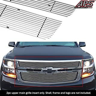 APS Compatible with 2015-2020 Chevy Suburban Tahoe Main Upper Billet Grille Insert C66320A