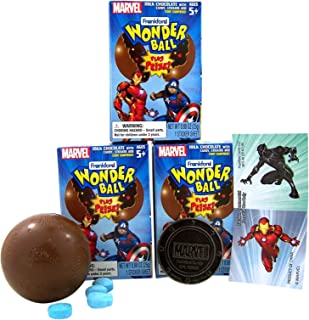 Marvel Avengers Surprise Wonderball with a Surprise Collectible Token Included in Box, Pack of 3