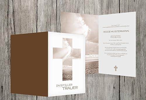 Envíos y devoluciones gratis. Tarjeta de de de luto Cielo Cruz, marrón, 100 Karten  genuina alta calidad