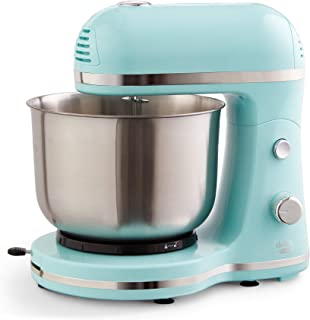 Delish by DASH Compact Stand Mixer, 3.5 Quart with Beaters & Dough Hooks Included - Blue