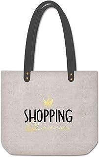 Grafik Werkstatt Shopper Leinen Damen Tasche Shopping Queen, Mehrfarbig