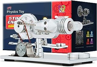 DjuiinoStar Hot Air Stirling Engine, Solid Metal Construction, Electricity Generator (Light up...