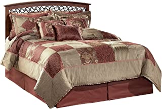 Ashley Furniture Signature Design - Timberline Panel Headboard - Queen/Full - Component Piece - Vintage Casual - Replicated Cherry Grain - Warm Brown