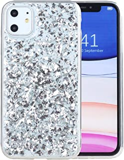 IYCK iPhone 11 Case, Luxury Bling Glitter Sparkle Gold Foil Transparent Flexible Soft Rubber TPU Protective Shell Bumper Case Cover for Apple iPhone 11 6.1 inch 2019 - Silver