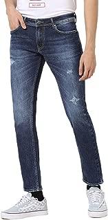 AMERICAN CREW Men's Slim Fit Stretchable Jeans True Indigo Blue