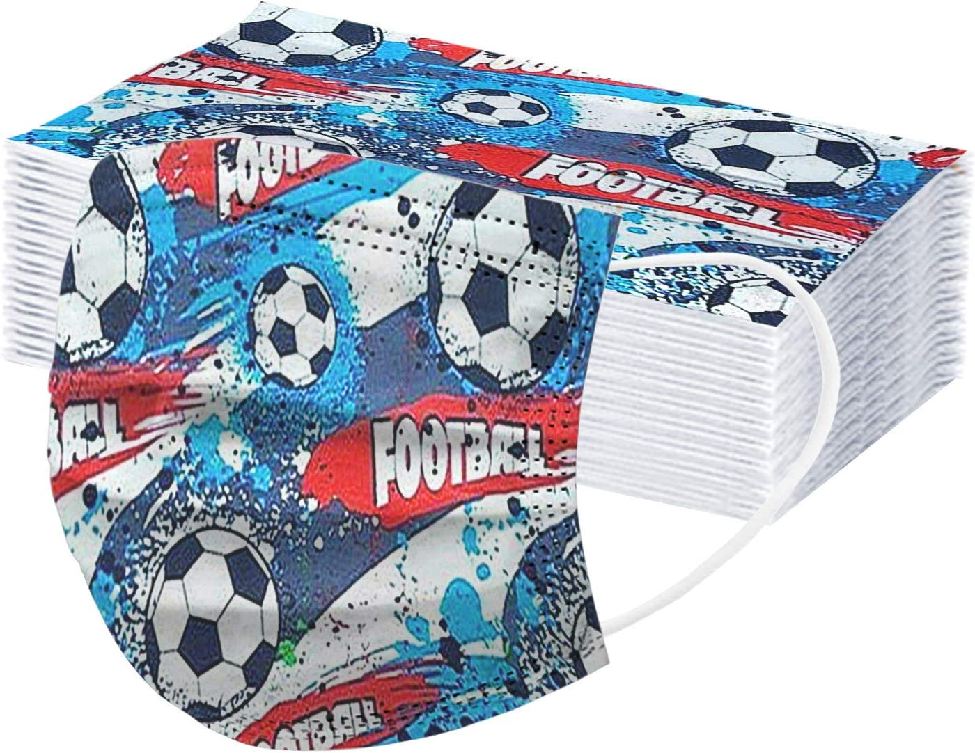 20 Pcs Price reduction Kids Football Disposable_Face_Mask for with OFFicial shop Designs Boys