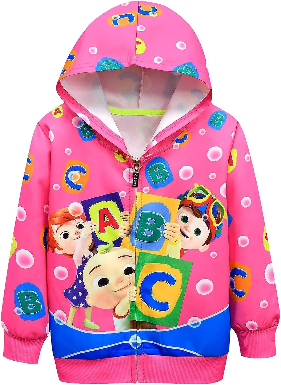 AOVCLKID Little Girls Hoodie Zip Max 55% OFF Coat Sweatshirt Toddler Ca Cheap sale Kids