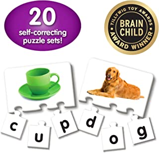 The Learning Journey: Match It! - Letters - 20 Self-Correcting Reading & Spelling Puzzles for Three Letter Words with Matching Images