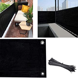 Balcony Privacy Screen Cover, 3.5ft x10ft Fence Screen Balcony Shield Cover UV-Resistant Visibility Reduction Windscreen G...