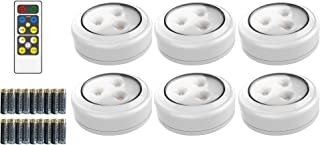 Brilliant Evolution Wireless LED Puck Light 6 Pack with Remote Control | LED Under..
