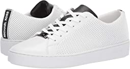 Optic White/Black Vachetta Round Perf/Fine Mold Kors Logo