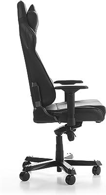 DXRacer GC-S28-N-J4 - Silla (Asiento Acolchado, Respaldo Acolchado, Negro, Negro, Imitación Piel, PVC, Imitación Piel, Cloruro de polivinilo (PVC))
