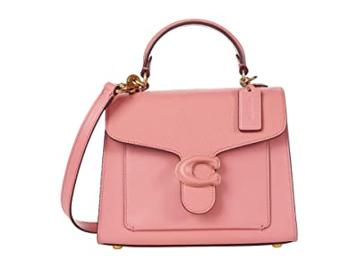 COACH Leather Covered C Closure Tabby Top-Handle 20