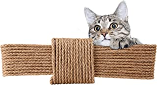 Roebii Natural Sisal Rope For Cat, Length 20 M / 66 Ft Cat Replacement Hemp Rope For Cat Tree And Tower, Jute Rope/Sisal R...
