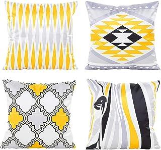 Silk Satin Cushion cover,Sofa cushion Car Office Pillowcase,100% Silk Satin Not the ball Decorative Pillow Cover 18X18 Inc...