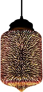 Newrays Modern 3D Glass Colourful Fireworks Creative Pendant Light Fixture with 17 cm Lampshade(P3D07)