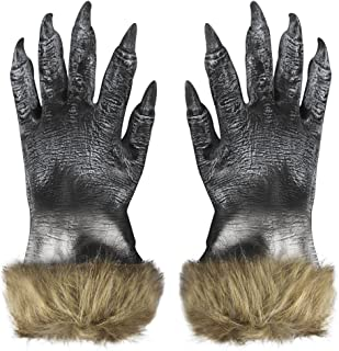 Latex Wolf/Skeleton Ghost Gloves Halloween Cosplay Party Costume Gloves
