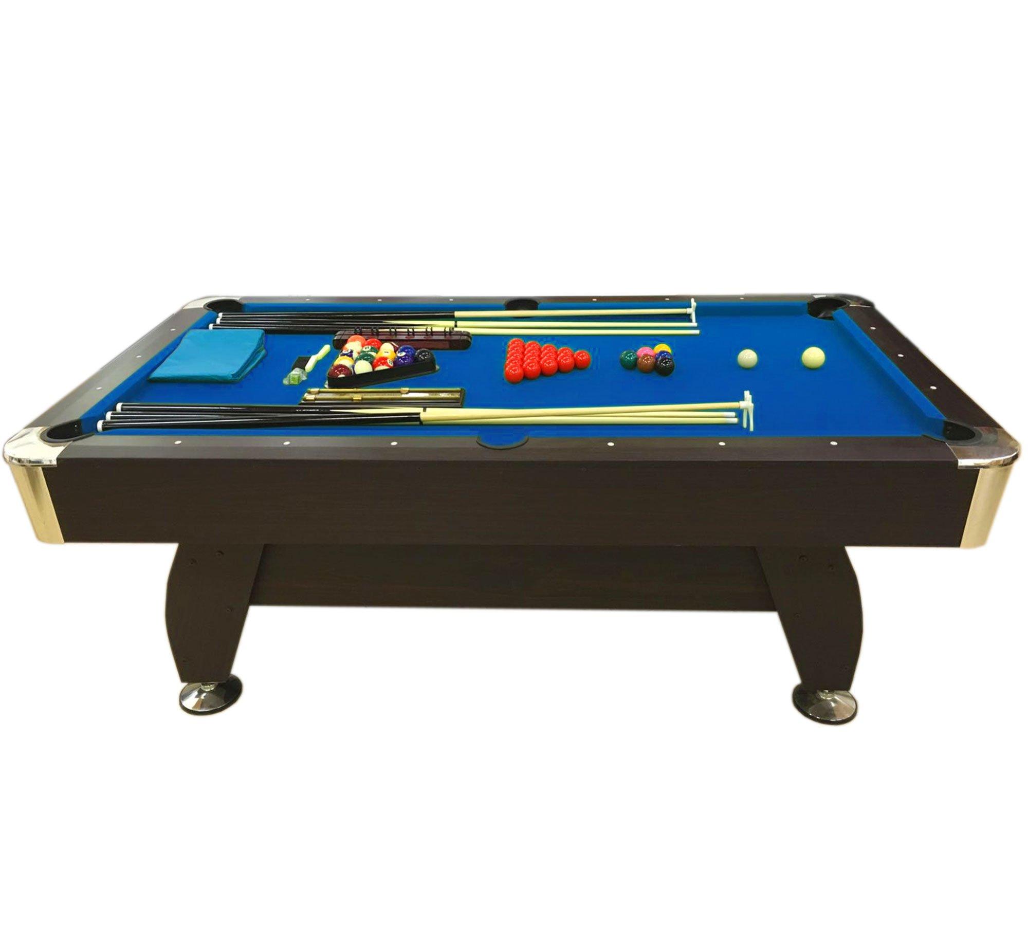 Simba Srl Mesa de Billar Juegos de Billar Pool 7 ft Medición de 188 X 96 cm Carambola Full Mod. Blue Sea: Amazon.es: Deportes y aire libre