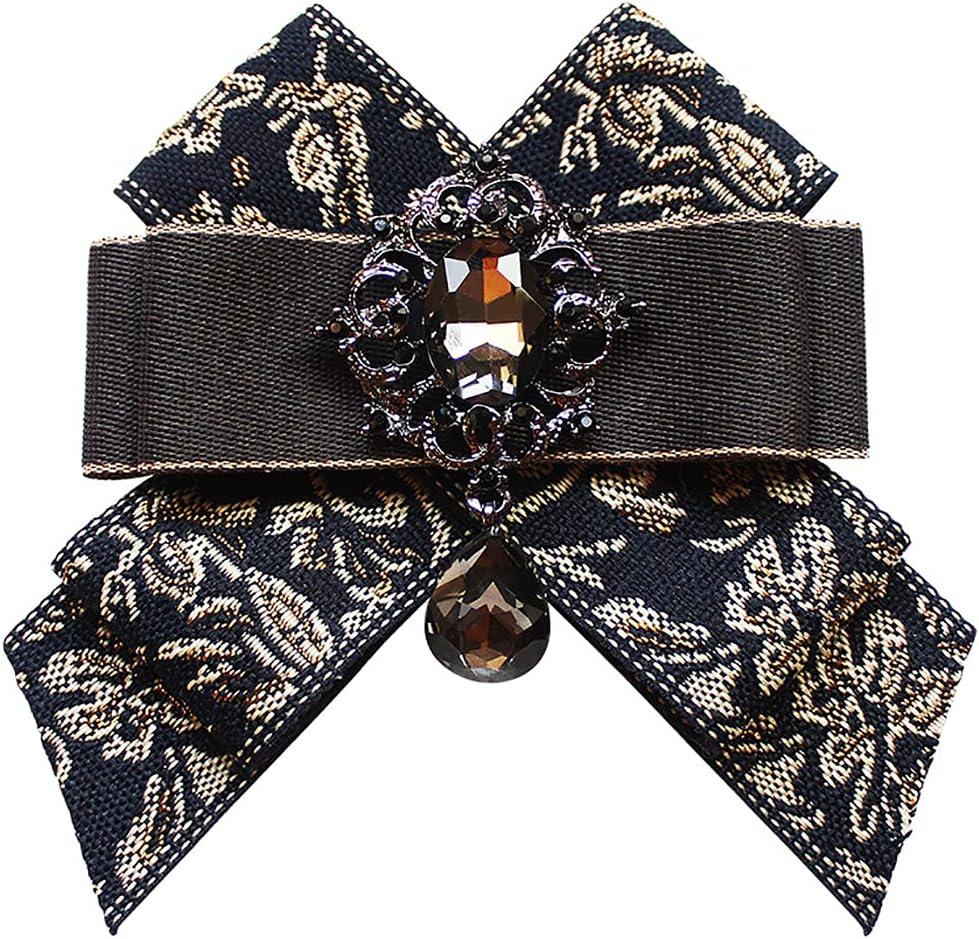 Lnrueg Man Bow Tie Rhinestone Decorative Adjustable Pre-Tied Neck Bowtie Bowknot Crystal Handmade Elegant Bridegroom