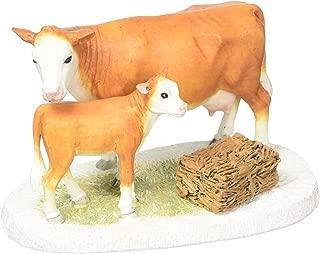 Department 56 Collections Mistletoe Farm Cow and Calf Figurine Village Accessory, Multicolor