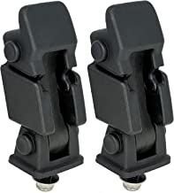 Hood Latches Pair Set (2) - Replaces# 55176636AD, 68038118AA, 42422 - Fits Jeep Wrangler TJ 1997, 1998, 1999, 2000, 2001, 2002, 2003, 2004, 2005, 2006 - Hold-Down Hood Latch Catch Kit 1997-2006