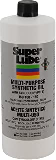 Super Lube 51030 Synthetic Oil with PTFE, High Viscosity, 1 quart Bottle, Translucent White
