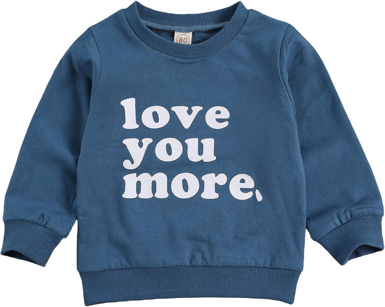Baby Boys Sweatshirts Love You More Shirt T Long Product Crewneck Sleeve depot