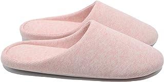 ofoot Pantoufles Dint Rieur pour Femmes, Chaussures de Ville Antid rapantes en Coton Lavable avec Mousse Moire de Forme