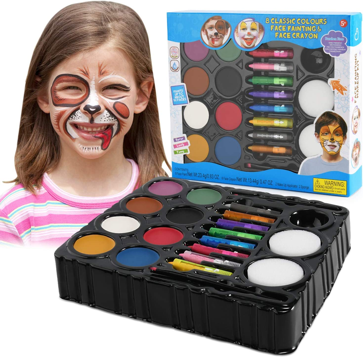 Balnore Face Painting Kit for Kids Max 50% OFF Hall Over item handling ☆ Paints 16 Large Washable
