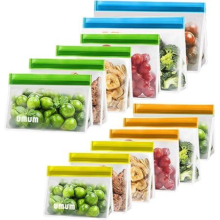 PaisDola Reutilizables para S/ándwich Bolsas De Almacenamiento Alimentos Bolsas Grado Alimenticio De La FDA BPA Eco Friendly Bolsa De Almacenamiento para Congelador Ziplock A Prueba De Fugas