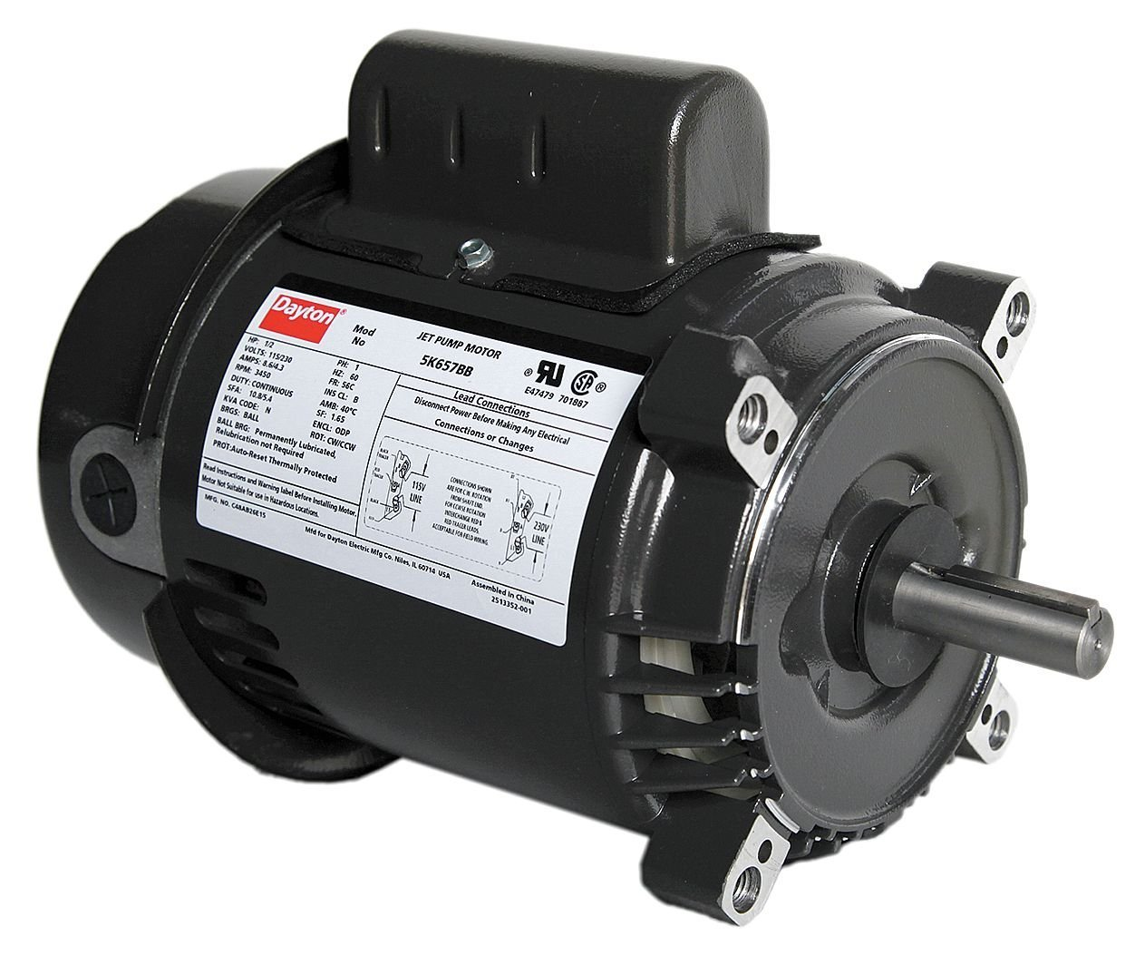Dayton 5K657 Motor 1 2 hp Pump Degrees_Fahrenheit Jet Vol Product to Regular dealer