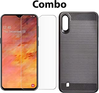 POPIO Tempered Glass & Back Cover Case Combo FOR Samsung Galaxy M10 (Transparent Glass & Cover Combo)