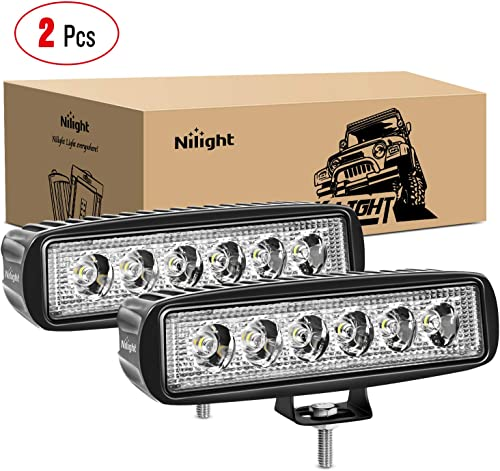 new arrival Nilight - 15019S-B Led Light Bar 2PCS 18w Spot Driving Fog Light Off Road Lights Boat Lights driving high quality lights Led Work Light SUV Jeep Lamp,2 years high quality Warranty outlet online sale