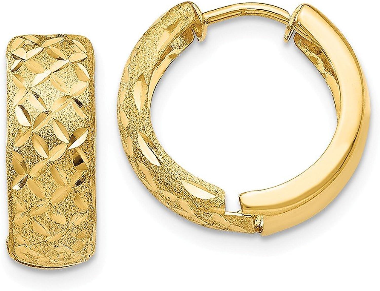 Beautiful Yellow gold 14K Yellowgold 14k 5mm Hinged Hoop Earrings