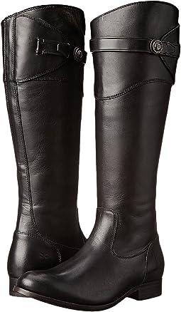 Black Smooth Vintage Leather