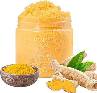 اسکراب بدن زردچوبه - اسکراب بدن صورت زردچوبه و نمک طبیعی برای نرم کردن کاتین ، کاهش مراقبت از بدن و مات