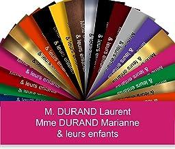 Zelfklevende pvc-brievenbusplaat, personaliseerbaar, 10 x 2,5 cm, 21 kleuren verkrijgbaar (roze)