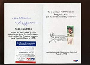 1993 Bb Hall Of Fame Induction Day Autographed Signed Memorabilia Cancellation Reggie Jackson PSA/DNA