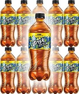 Brisk Iced Tea, Lemon, 20oz Bottle (Pack of 10, Total of 200 Fl Oz)