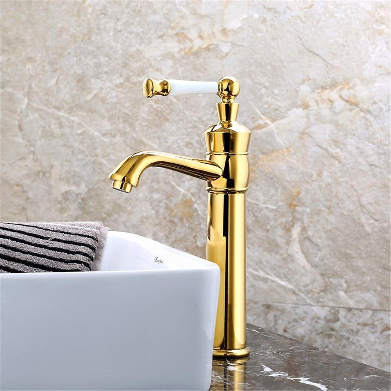ETERNAL QUALITY Bad Waschbecken Wasserhahn Küche Waschbecken Wasserhahn Vollkupfer Retro über Aufsatzbecken Einhand-Doppelloch Warm Und Kalt Waschtischmischer BQ1571ca