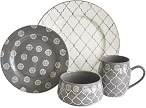 MOROCCAN GREY 16 PIECE DINNERWARE SET