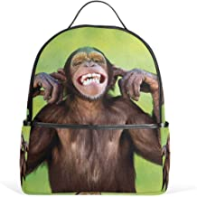 Backpack Teeth Monkey Womens Laptop Backpacks Hiking Bag Travel Daypack