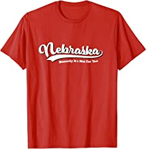 Nebraska Honestly It's Not For You Script Vintage Distressed T-Shirt