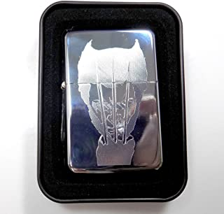 XMen Wolverine Symbol Comic Engraved Chrome Cigarette New Lighter Gift LEN-0106