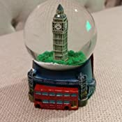 3.5 Inches Tall Silver London Snow Globe with Big Ben and Union Jack Flag, London Snow Globe