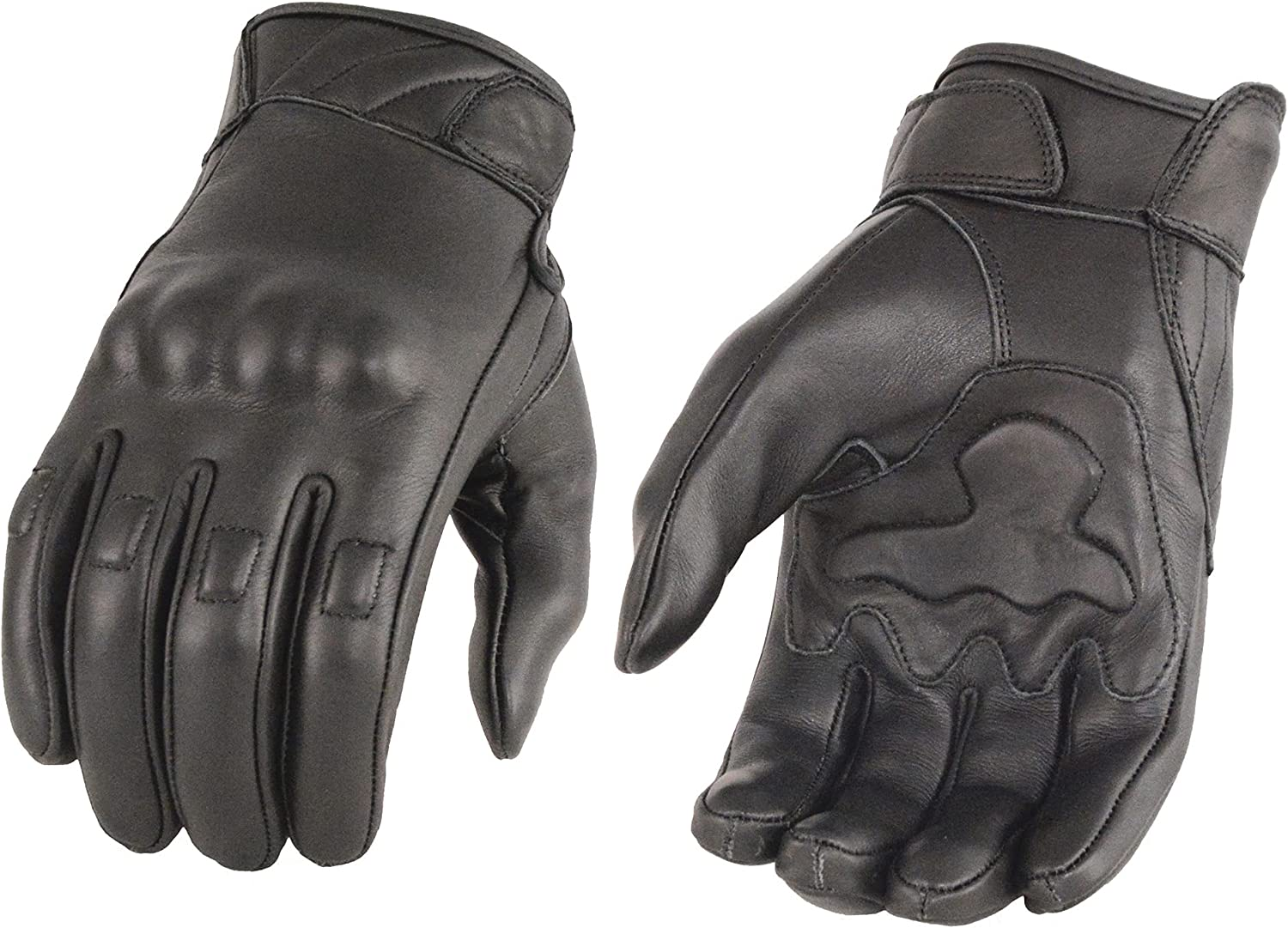 Milwaukee Leather Men's Black Knu Gloves Rubberized with Clearance SALE! Limited time! Award