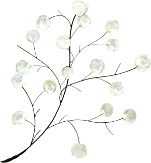 Deco 79 Coastal Metal and Shell Branch Wall Decor, 37
