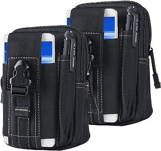 حقيبة حزام الخصر التكتيكي | جراب محفظة عسكرية شاملة في الهواء الطلق مزود بجيب أدوات لهاتف iPhone X 8 7 6 6s Plus Samsung G...