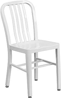 Flash Furniture White Metal Indoor-Outdoor Chair