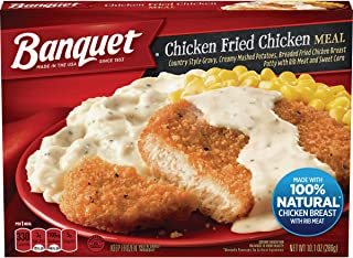 Banquet Classic Chicken Fried Chicken Frozen Single Serve Meal, 10.1 Ounce